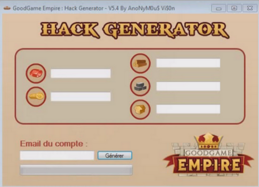 GoodGame Empire hack generateur v5.4